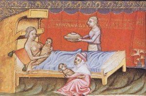 Что происходило во время родов в Средние века.