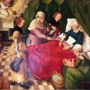 Что происходило во время родов в Средние века?