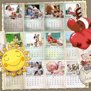 Календарь на 2020 год своими руками в подарок маме на Новый год.