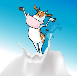 Корова на волне молока.