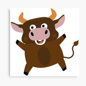 Векторное изображение радостного быка. Каким будет ребенок, рожденный в год металлического быка. Дети 2021