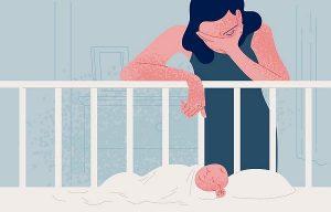 Векторное изображение сколько доится послеродовая депрессия у мамы.